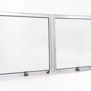 Janela Maxim-Ar 2 seções em Alumínio Brilhante e Vidro Mini