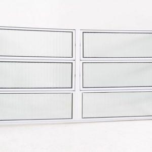 Vitrô Basculante de 2 seções em Alumínio Branco