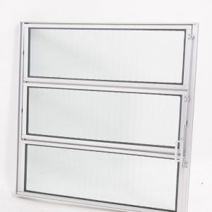 Vitrô Basculante de 1 seção em Alumínio Brilhante