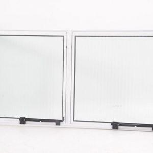 Janela Maxim-Ar 2 seções em Alumínio Branco e Vidro Mini