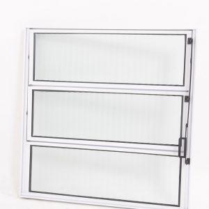 Vitrô Basculante de 1 seção em Alumínio Branco