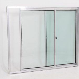 Janela de Vidro de Alumínio Brilhante de 2 folhas