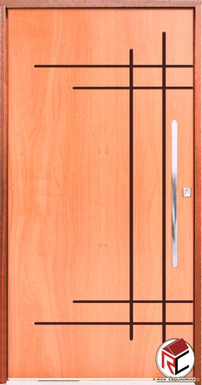 Porta Pivotante Estilo de Madeira