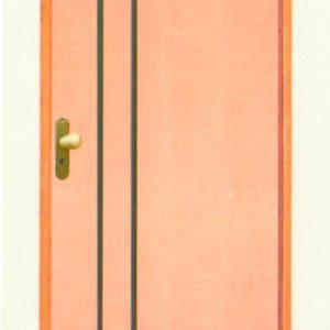 Porta Estilo Frisada de Madeira