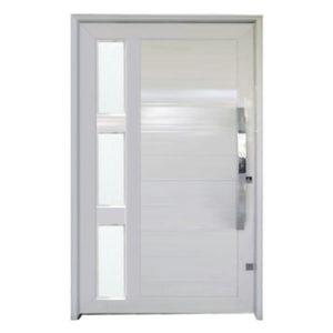 Porta Pivotante de Alumínio Branca com vidro