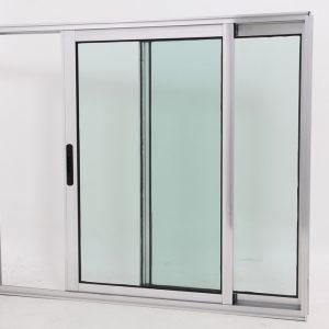Janela de Vidro e Alumínio Brilhante 2 folhas