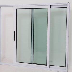 Janela de Vidro e Alumínio Branci 2 folhas Linha Premium