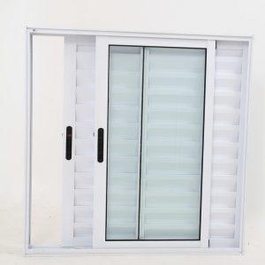 Janela Veneziana de Alumínio Branco de 3 folhas - Premium