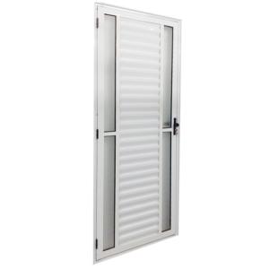 Porta Palheta de Alumínio Branco com 4 Vidros Laterais