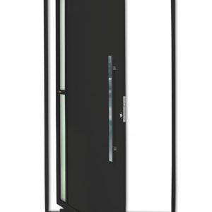 Porta Pivotante Visione em Alumínio Lambril Preto Brimak Super-25