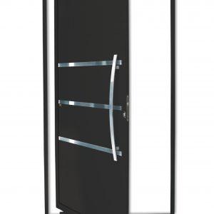Porta Pivotante Evolution de Alumínio Lambril Preto Brimak